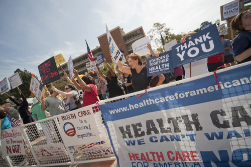 The national debate on health care is reflected in Maine's Senate race.