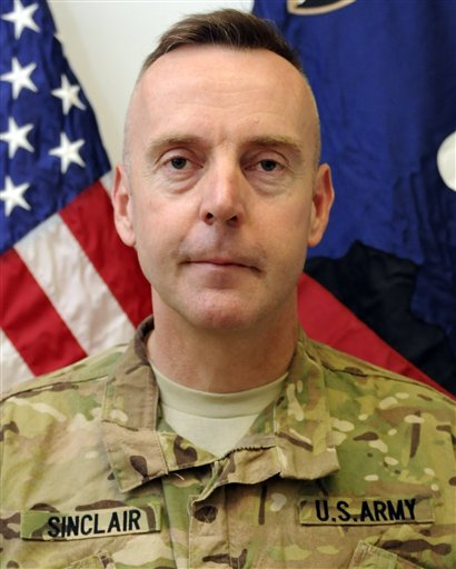 An undated photo provided by the U.S. Army of Brig. Gen. Jeffrey A. Sinclair. Sinclair, who served five combat tours in Iraq and Afghanistan, has been charged with forcible sodomy, multiple counts of adultery and having inappropriate relationships with several female subordinates, two U.S. defense officials said in September.