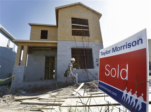 A home under construction recently in Riverview, Fla., already has a buyer. A measure of U.S. home prices jumped 5 percent in September compared with a year ago, the largest year-over-year increase since July 2006.