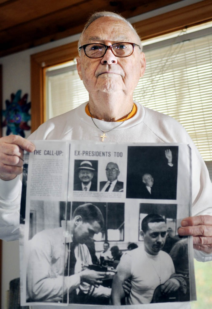 Joe Cowing, of Dresden, was featured 50 years ago in Life magazine in an image depicting him receiving a vaccine during the Cuban missile crisis.