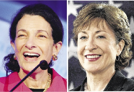Sens. Olympia Snowe and Susan Collins