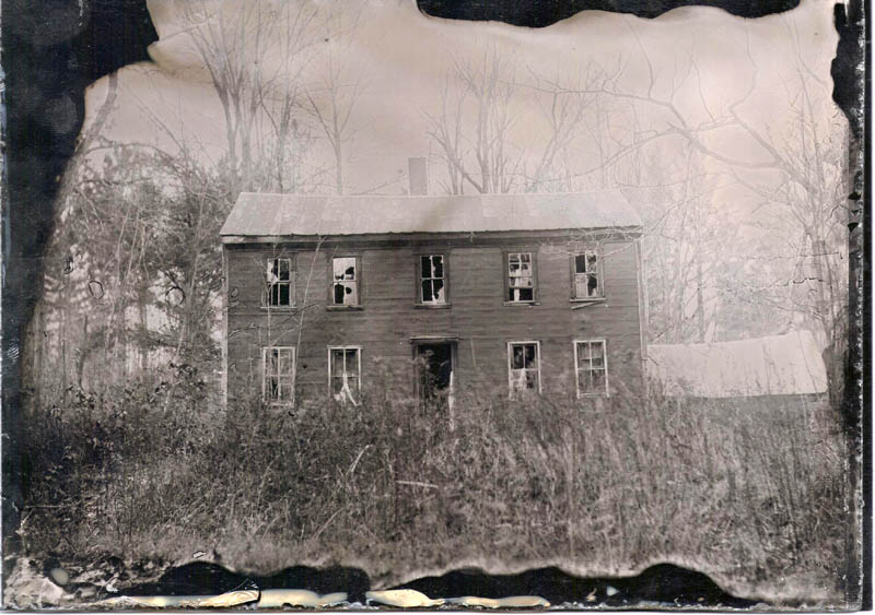 Scott Anton's interpretation of the Wentworth home, using his vintage photographic process.