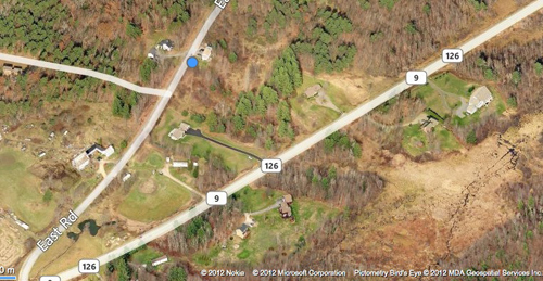 Approximate location of fatal shooting off East Road.