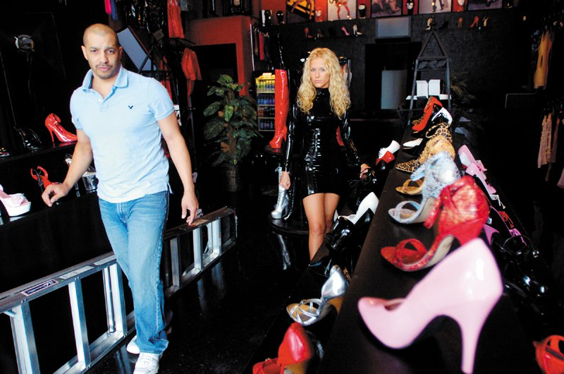 This April 2007 file photo shows Nate and Carrie LaChance as they prepared to open the Archenemys boutique on Water Street in Augusta.