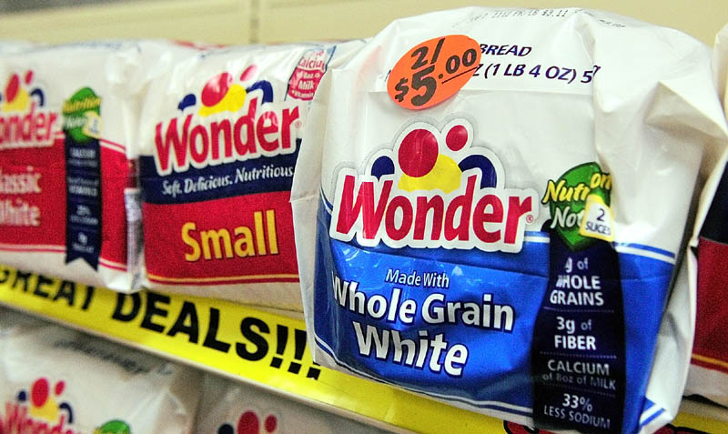 Wonder Bread was on sale Friday afternoon at the J.J. Nissen Hostess Bakery Outlet on Leighton Road in Augusta.