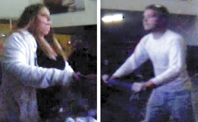 Waterville police are looking for a couple involved in a Nov. 6 purse snatching at Walmart, later seen in these store security camera photos.