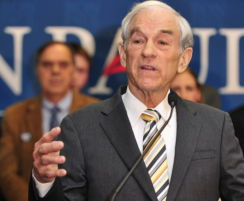Ron Paul talks to supporters in Portland on Feb. 11 after coming in second to Mitt Romney in the Maine Republican presidential caucuses. The