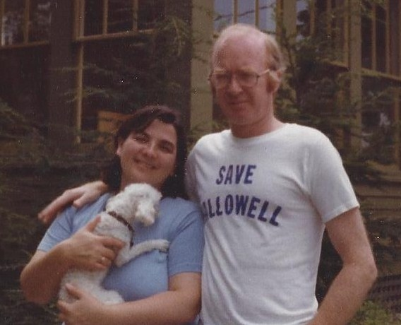 Everyone was on board with saving Hallowell in 1975, including Anna and Jim Milliken, the columnist's parents, seen here in Augusta.