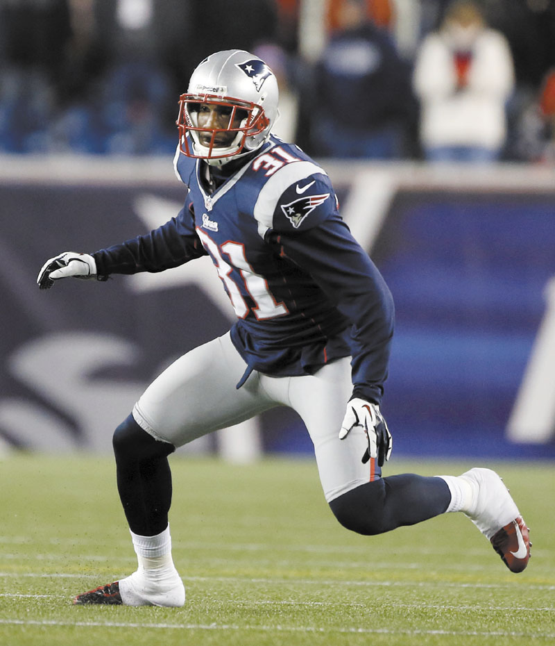 THE NEW GUY: Aqib Talib made his first start at cornerback for the New England Patriots on Sunday against the Indianapolis Colts. He allowed a touchdown but also returned an interception for a score.