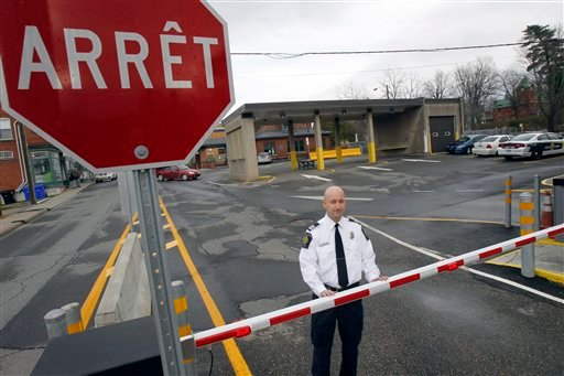 Miguel Begin, the chief of operations for the Canada Border Services Agency's Stanstead sector, stands at the Canadian port of entry in Stanstead, Quebec, recently.
