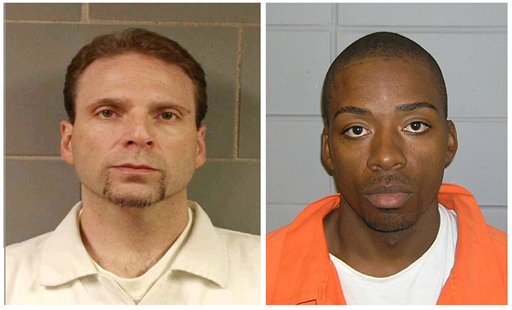 Undated photos provided by the FBI of Kenneth Conley, left, and Jose Banks, the two inmates who escaped from the Metropolitan Correctional Center in downtown Chicago on Tuesday.
