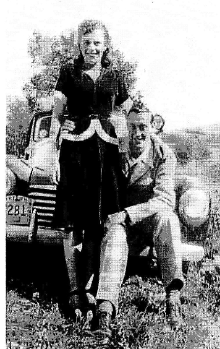 Earl Bennett, father of Gary Bennett, pictured in 1945 with his wife, Lorraine.