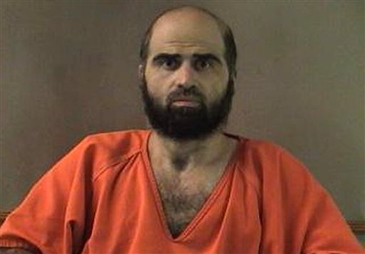 This undated file photo provided by the Bell County Sheriff's Department shows Nidal Hasan, the Army psychiatrist charged in the deadly 2009 Fort Hood shooting rampage.