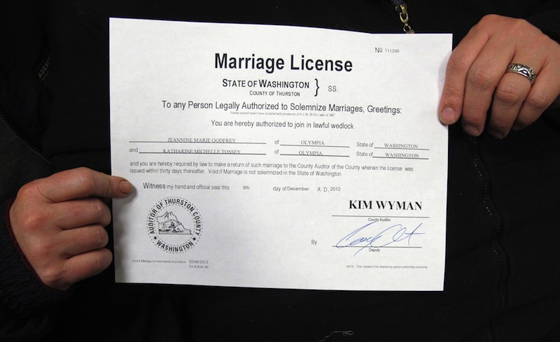 Gay Wash Couples Get Marriage Licenses Centralmaine