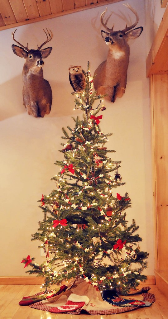 The Christmas tree on display for the holidays at the Hamilton-Ellis residence in Chelsea.