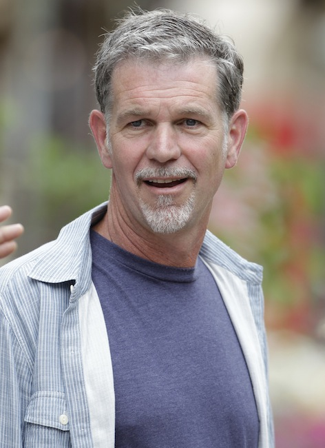 "In this July 11, 2012 file photo, Netflix CEO Reed Hastings attends the Allen & Company Sun Valley Conference in Sun Valley, Idaho. Netflix Inc. is facing scrutiny from government regulators for a Facebook post by Hastings in July that may have boosted the online video company's stock price. Neflix said Thursday, Dec. 6, 2012, that the Securities and Exchange Commission informed it that its staff is recommending civil action be brought against the company and Hastings. The reason: Hastings' July 3 post in which he said Netflix's online video viewing ""exceeded 1 billion hours for the first time ever in June."" (AP Photo/Paul Sakuma, File)"