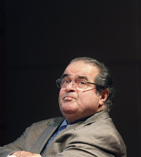 "U.S. Supreme Court Justice Antonin Scalia found himself on Monday defending his legal writings that some find offensive and anti-gay. Scalia has been giving speeches around the country to promote his new book, ""Reading Law,"" and his lecture at Princeton comes just days after the court agreed to take on two cases that challenge the federal Defense of Marriage Act, which defines marriage as between a man and a woman."