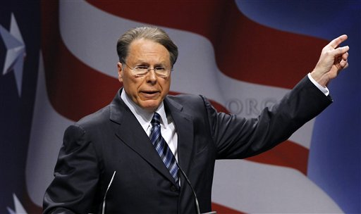 """National Rifle Association Executive Vice President and CEO Wayne LaPierre speaks in Washington in this Feb. 10, 2011, photo. Seldom has the NRA gone so long after a fatal shooting without a public presence, but after four days of self-imposed silence on the shooting that killed 26 people inside a Newtown, Conn., elementary school, the nation's largest gun rights lobby emerged Tuesday and promised """"to offer meaningful contributions to help make sure this never happens again."""""""
