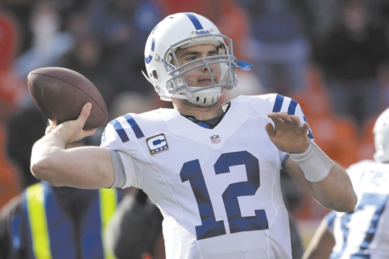 IMPACT PLAYER: Quarterback Andrew Luck has led the Indianapolis Colts to an amazing turnaround and a berth in the playoffs. Last season the Colts had the NFL's worst record, this year they are 10-5.