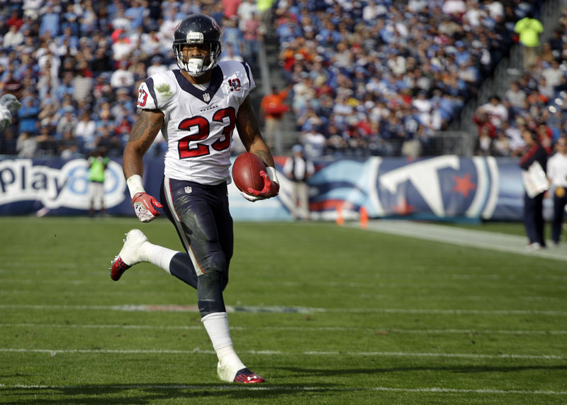 OFFENSIVE MACHINE: Houston Texans running back Arian Foster leads the NFL with 15 touchdowns and the AFC with 1,102 yards.