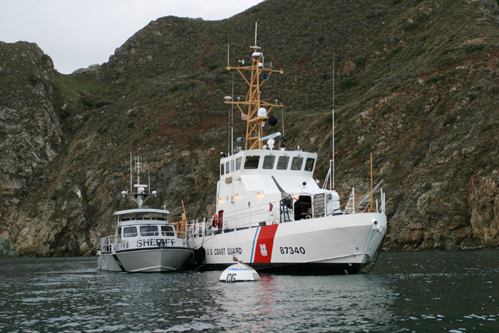 The Coast Guard cutter Halibut conducts a mission with California authorities in this file photo provided by the U.S. Coast Guard.
