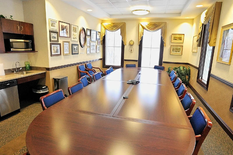 The community room at the new Kennebec Savings Bank branch, at the corner of Main and Northern Avenues in Farmingdale, as it appeared on Wednesday.