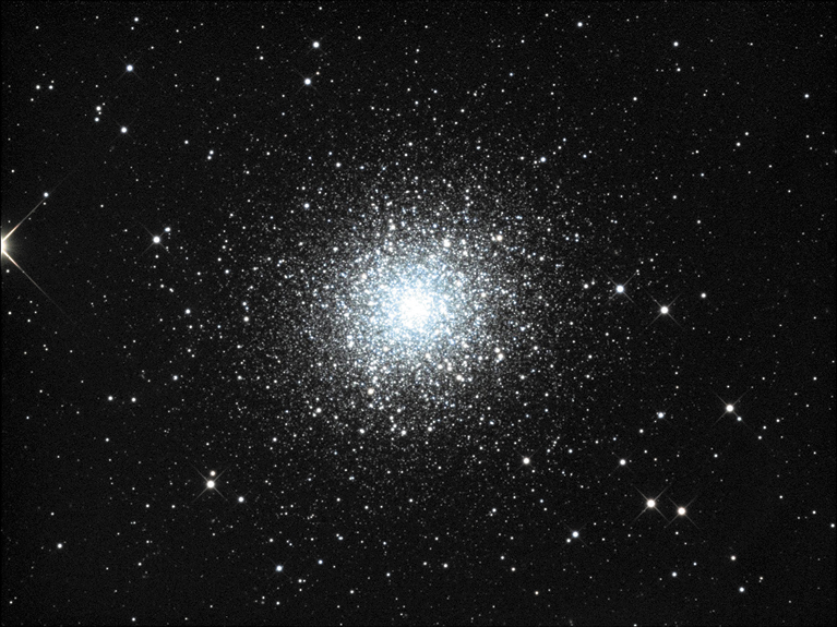 Globular cluster M13 is seen in the constellation Hercules.