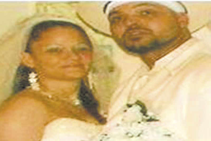 In happier times: Frank Maddox and Yvette Colon Maddox, both originally from Augusta, were found dead in March in California.