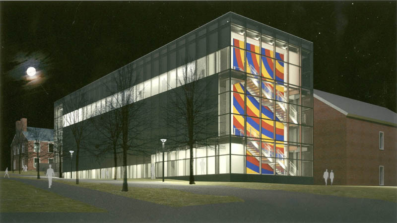 An artist's concept of how the Alfond-Lunder Family Pavilion will look when the addition to the Colby College Museum of Art is finished in 2013.