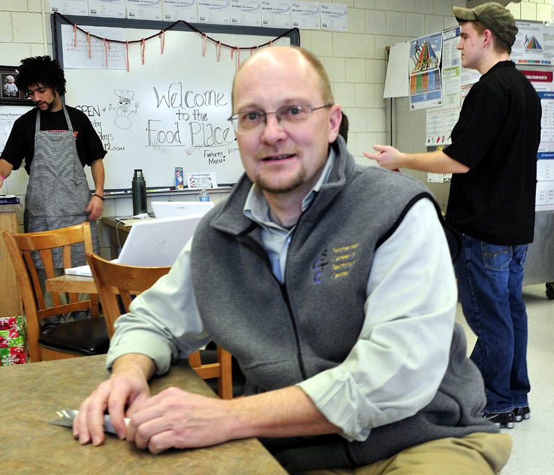 David Dorr, director of the Somerset Career & Technical Center, has a seat in The Food Place restaurant, run by culinary class students, on Thursday.