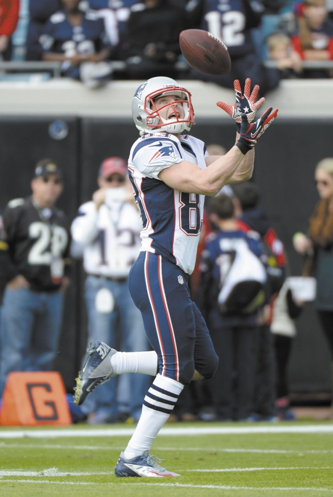 EYES ON THE PRIZE: Wes Welker and the New England Patriots could end up in any of the top four spots in the AFC playoffs depending on what happens in today's games. The Patriots face the Miami Dolphins in Foxborough, Mass. this afternoon.
