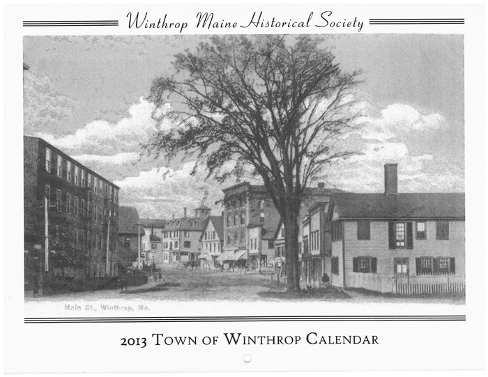 The cover of the Winthrop Historical Society's 2013 calendar.