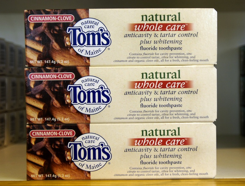Toothpaste by Tom's of Maine.