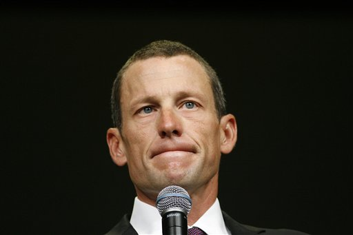 In this 2009 file photo, Lance Armstrong speaks during the opening session of the Livestrong Global Cancer Summit in Dublin, Ireland. Lance Armstrong stopped at his Livestrong Foundation before heading to an interview with Oprah Winfrey on Monday and delivered an emotional apology to staff members, some of whom broke down in tears, a person with direct knowledge of the meeting told The Associated Press.