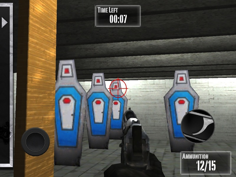 "This is a screen grab of new shooting a game for mobile devices tied to the National Rifle Association. This game is no longer being labeled suitable for preschoolers. ""NRA: Practice Range"" changed its age recommendation Tuesday from 4 years and up to at least 12 years of age, with an added warning that the game depicts realistic violence. (AP Photo/MEDL Media)"