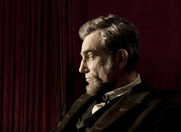 "Daniel Day-Lewis portrays Abraham Lincoln in the film ""Lincoln."" Lewis was nominated for an Academy Award for best actor for his role in the film."