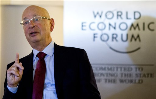 German Klaus Schwab is founder and president of the World Economic Forum, in Davos, Switzerland, where the world's financial and political elite will meet this week.