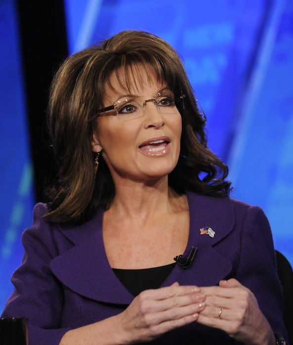 In this Sunday, Feb. 12, 2012 file photo provided by Fox News, former Alaska Gov. Sarah Palin talks on Fox News Sunday in Washington. Palin is out as a Fox News Channel contributor. The network said Friday, Jan. 25, 2013, that it is parting ways with the 2008 Republican vice presidential candidate and former Alaska governor. (AP Photo/Fox News, Fred Watkins)