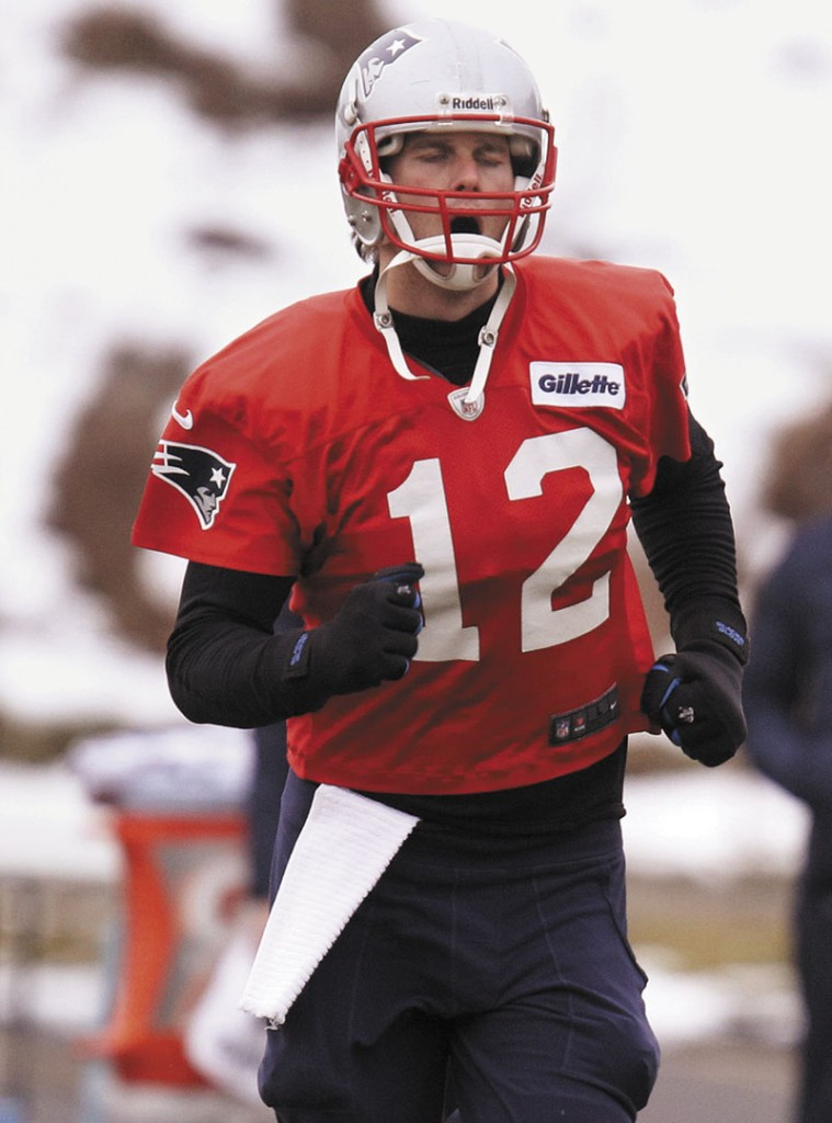 MILESTONE AHEAD? With a win Sunday, New England Patriots quarterback Tom Brady will be the winningest starting quarterback in playoff history. Brady is 16-6 and tied with Joe Montana for most playoff wins all-time. Gillette Stadium