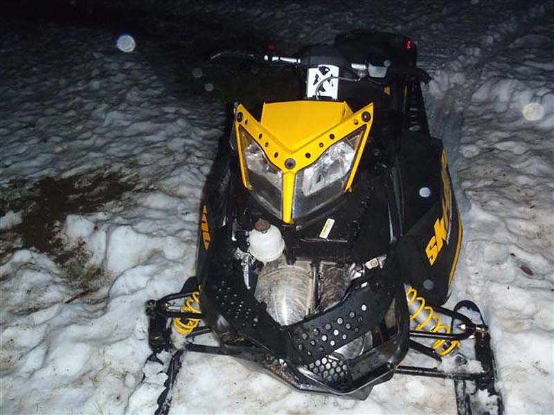 David Willard, 25, of Oakland, and his passenger, Kenneth Cormier, 47, were treated for moderate injuries at Maine General Hospital in Waterville after being thrown from the snowmobile after hitting a mound in a field off Stanley Hill Road in China at 2 a.m. Sunday.