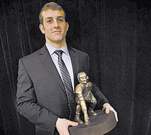 AWARD WINNER: Cheverus High School's Donald Goodrich was named the 42nd winner of the James J. Fitzpatrick Trophy on Sunday in Portland.
