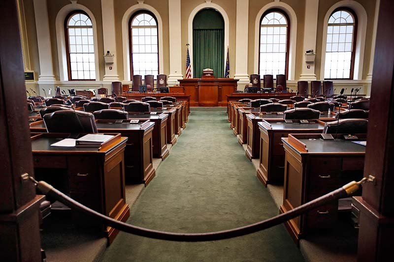 The House Chamber at the State House in Augusta, where education, energy and domestic violence will be at the top of Gov. Paul LePage's agenda as the Legislature returns for the 2013 session on Tuesday.