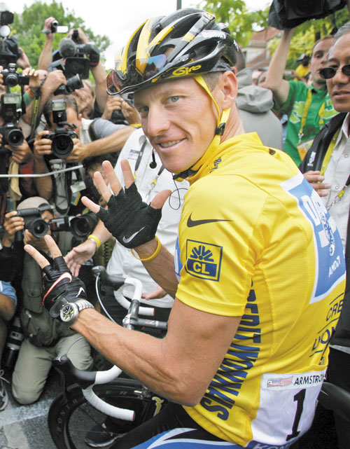 "CONFESSING: After more than a decade of denying that he doped to win the Tour de France seven times, Lance Armstrong sat down Monday for a ""no-holds barred,"" 90-minute, question-and-answer session with Oprah Winfrey."