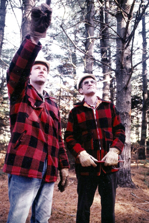Abbott Ladd, right, with fellow forester Kerry Huckins worked for Boise Cascade in Rumford in this undated photo.
