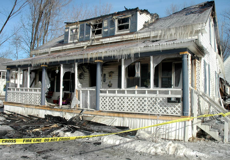 No injuries were reported but a fire destroyed an Elm Street home in Newport early Friday morning.