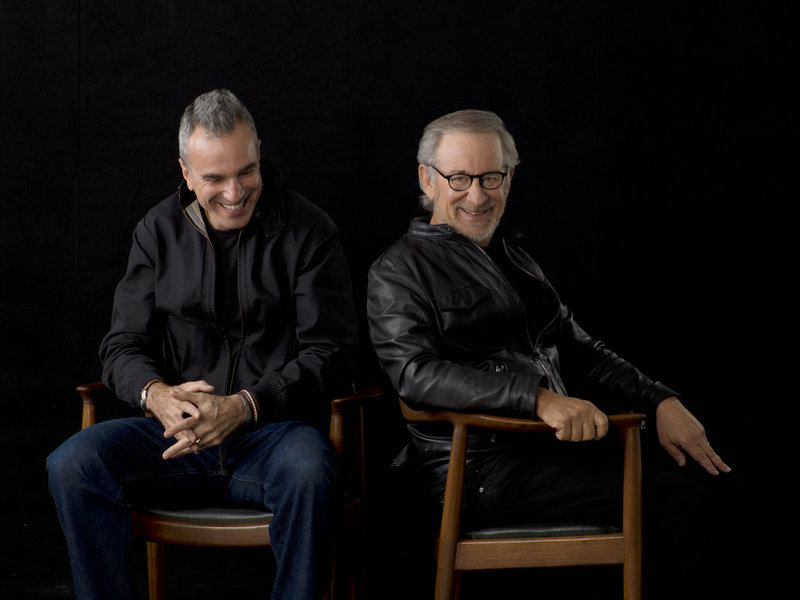 Photo from DreamWorks and Twentieth Century Fox shows actor Daniel Day-Lewis, left, and director Steven Spielberg.