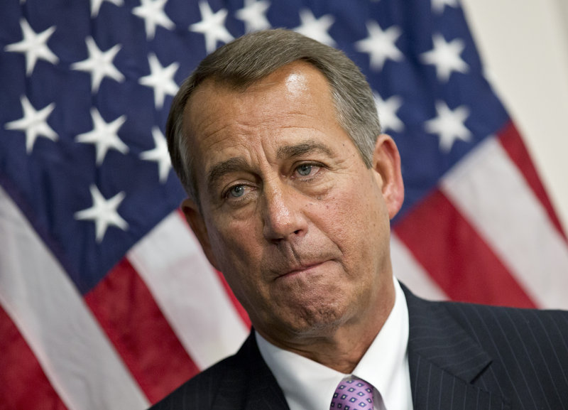 Republican Speaker of the House John Boehner