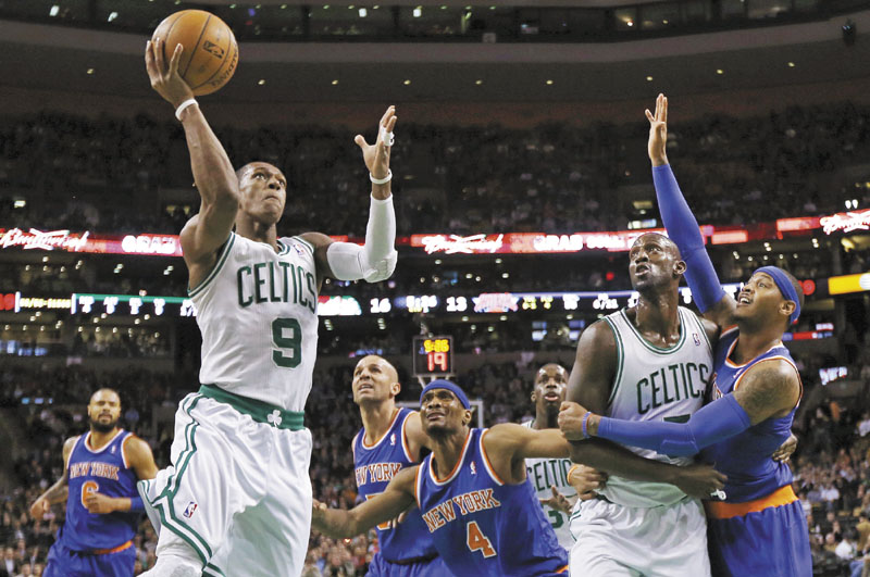 GONE: Celtics guard Rajon Rondo will miss the rest of the season with a torn ACL. In his place, Boston will use guards Courtney Lee, Jason Terry, Leandro Barbosa or a player not yet on their roster.