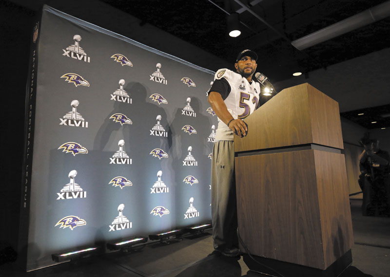 IN THE SPOTLIGHT: The Baltimore Ravens insist that a report in Sports Illustrated that linebacker Ray Lewis sought help from a company who's products contain a banned product connected to human growth hormone will not be a distraction.