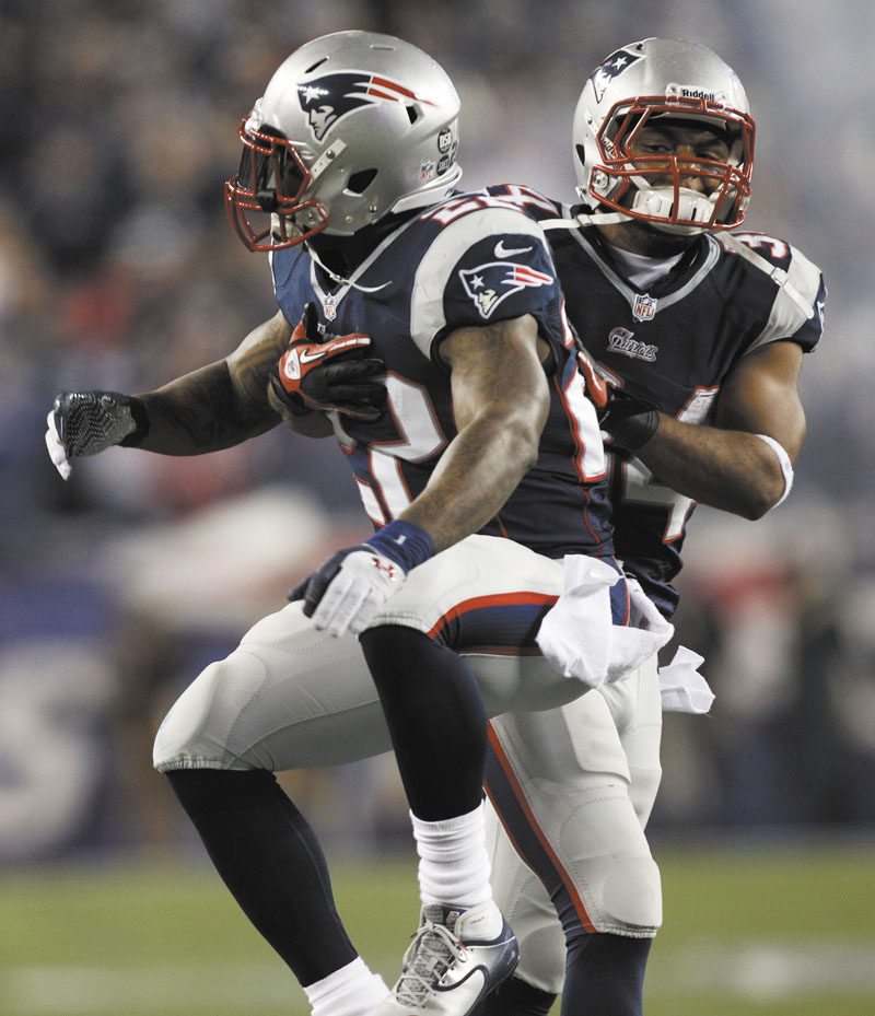 KEY PLAYERS: Running backs Stevan Ridley, left, and Shane Vereen, right, combined for four touchdowns in the Patriots' win over last Sunday. They will need another big game against the Ravens in the AFC championship game if the Patriots are to advance to a second straight Super Bowl.
